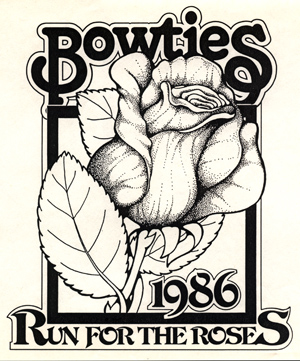 Bowties Run For The Roses Illustration