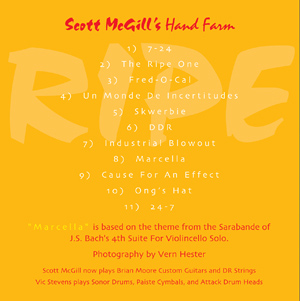 Scott McGill Ripe Booklet Back