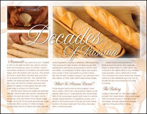 Neomonde Artisan Bread Brochure Inside