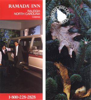 Ramada Inn & Johnson Holler Trees Brochure Covers