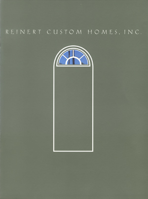 Reinert Custom Homes Brochure Cover
